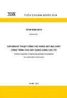 Chỉ dẫn kỹ thuật công tác khảo sát địa chất công trình cho xây dựng trong vùng CÁC - TƠ: Xuất bản lần 1