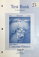 Fundamentals of corporate finance : test bank to accompany : fifth edition
