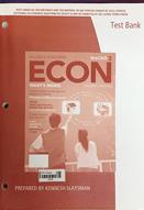 ECON macroeconomics : test bank : 3rd ed.